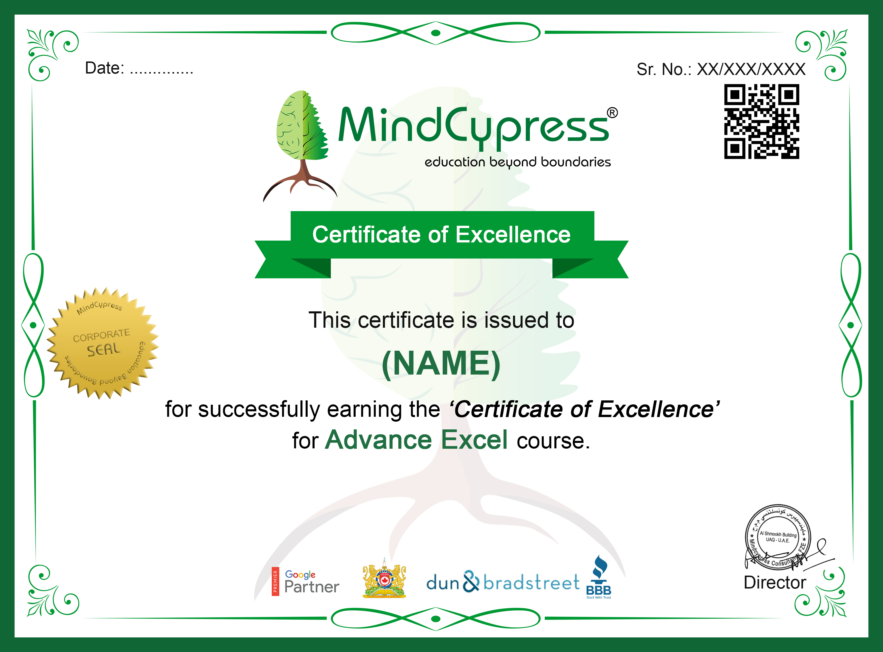 Advance ExcelCertification